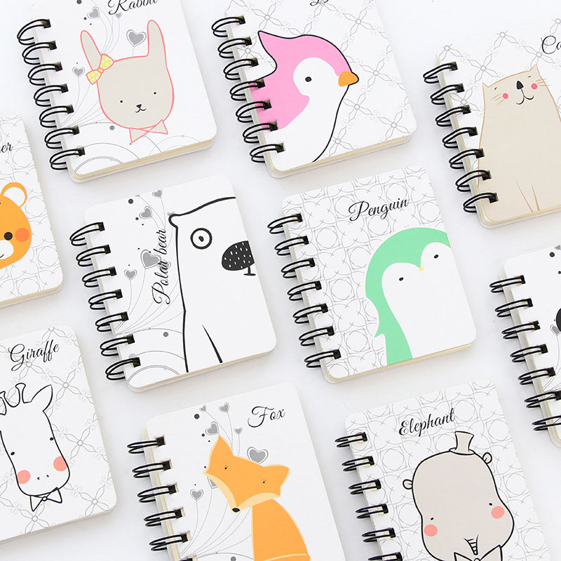 Cute Kawaii Cat Rabbit Notebook Cartoon Panda Bear Coil Journal Diary Korean Stationery Student 3646 Refreshing And Enriching The Saliva