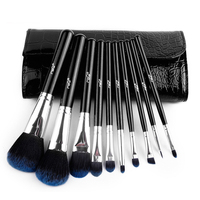 MSQ 10pcs Set Foundation Powder Brushes Suit With Black PU Bag Makeup Brushes Set