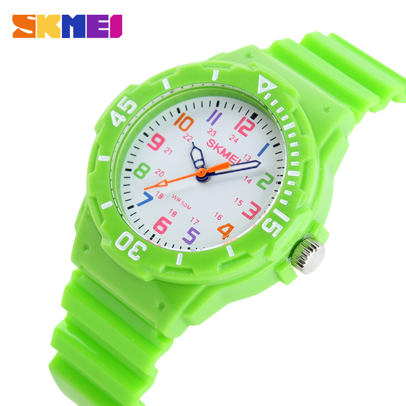 Children Watch Skmei Fashion 7 Colors Casual Watches 50M Waterproof Kids Clock Girls Boys Student Analog Quartz Wristwatch Reloj