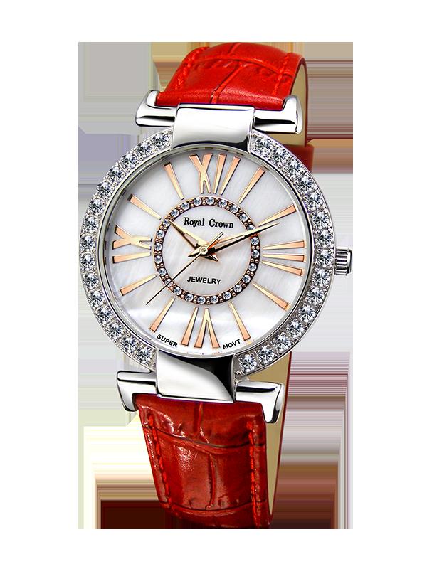 Royal Crown Jewelry Watch 6116 Italy brand Diamond Japan MIYOTA Shell surface Fashion new Lady Rhinestone Diamond Dress невидимки royal diamond заколка