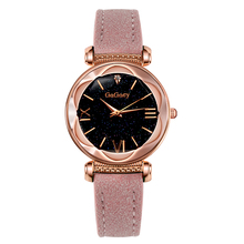 Hot Sale Luxury Brand Gogoey Watch Women Watches Starry Sky Rose Gold Ladies Leather Strap Dress Clock