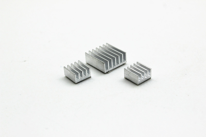 50set/lot aluminum Heat Sinks For Raspberry Pi 512M Model B Computer for arduino mega 2560 arduino Ethernet Shield w5100 12pcs aluminum heat sinks 2pcs pure copper heat sinks for raspberry pi 512m model b computer free shipping