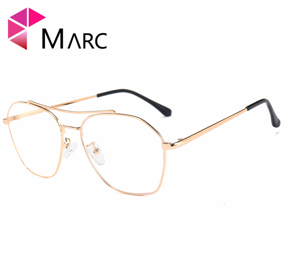 MARC 2018NEW Glasses Frame WOMEN Men Vintage Metal Lens Optical Suqare Plain Alloy Resin solid Clear 1973