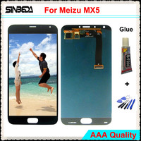 Sinbeda AAA LCD Display Tested 5 5 AMOLED For Meizu MX5 LCD Display With Touch Screen