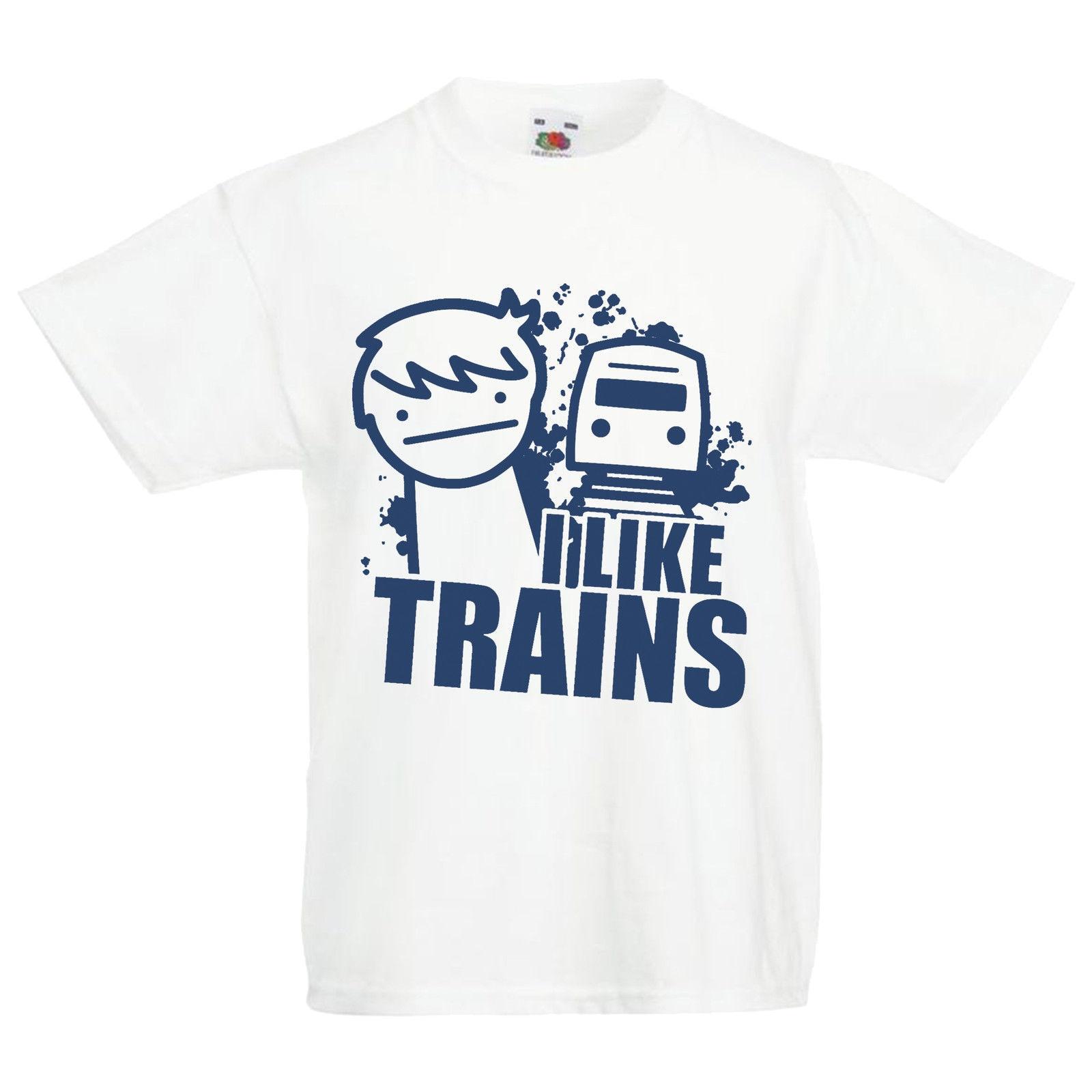 'i Wie Trains' Asdf Inspiriert Parody Lustige Comic Kinder T Shirt Männer T-shirts Sommer Stil Mode Swag Männer T Shirts Cartoon