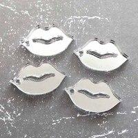 جلام الشفاه سحر فضة مرآة ، الليزر قطع الاكريليك ، السحر ، ظهورهم شقة ، قبلة