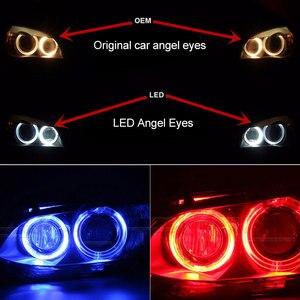 Image 3 - 2x Canbus LED Angel Eyes light 10w 20w 30w 60w H8 LED HID Bulb For BMW E60 E61 E63 E64 E70 X5 E71 X6 E82 E87 E89 Z4 E90 E91 E92