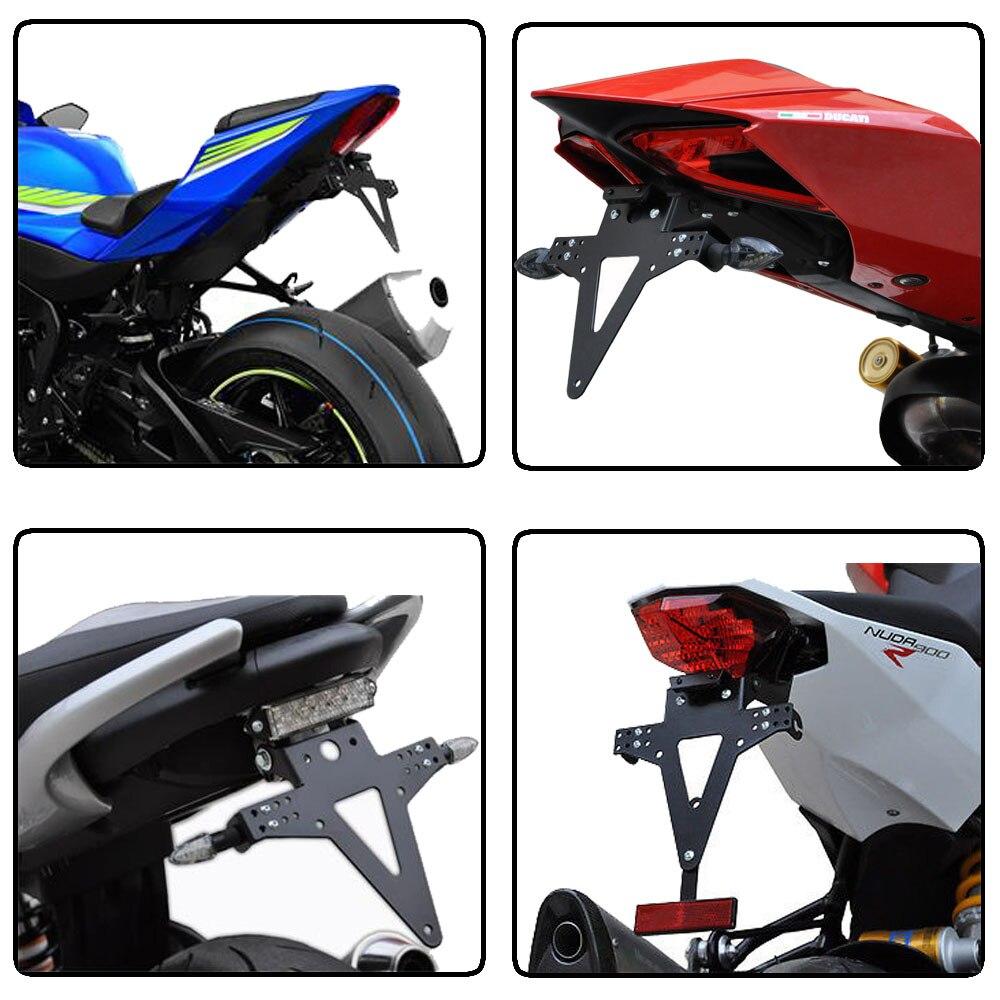 Motocicleta ángulo ajustable aluminio licencia número placa Marcos ...