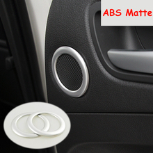 цена на For Ford Kuga Escape 2013 2014 2015 2016 2017 ABS Chrome Front Door A Pillar Speaker Cover Trim car styling Accessories 2pcs