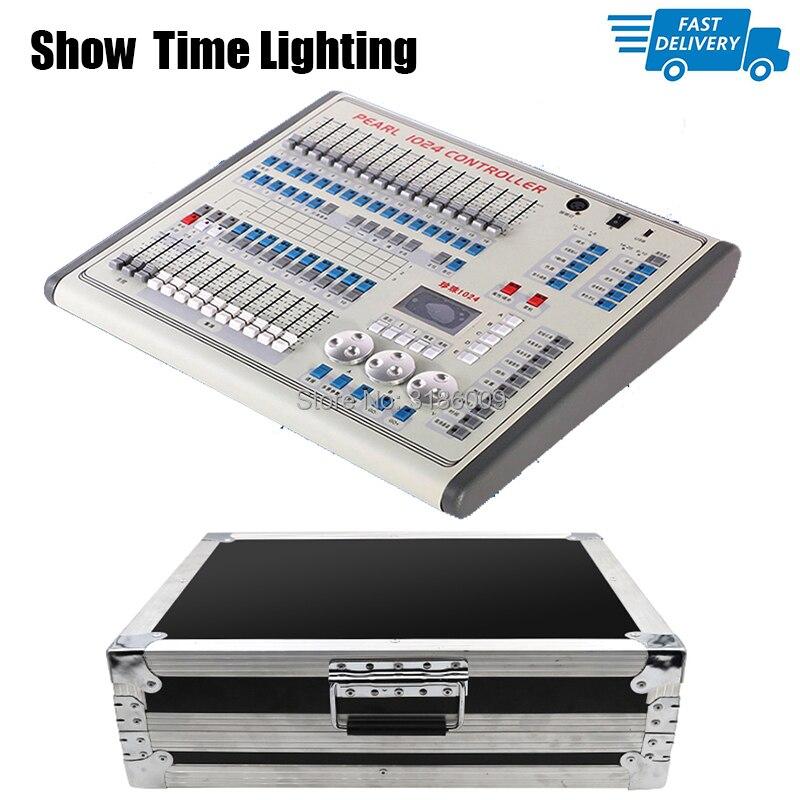 Быстрая доставка Мини жемчуг 1024 контроллер с flycase пакет DMX 512 консоль движущийся головной свет led par профессиональное освещение сцены