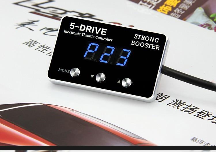 Fuerte refuerzo 5 unidad de controlador electrónico de aceleración Del Coche par