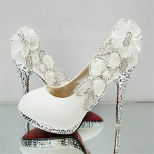 Beautiful Glitter Wedding Bridal Party Evening Crystal High Heels Women Shoes Sexy Woman Pumps
