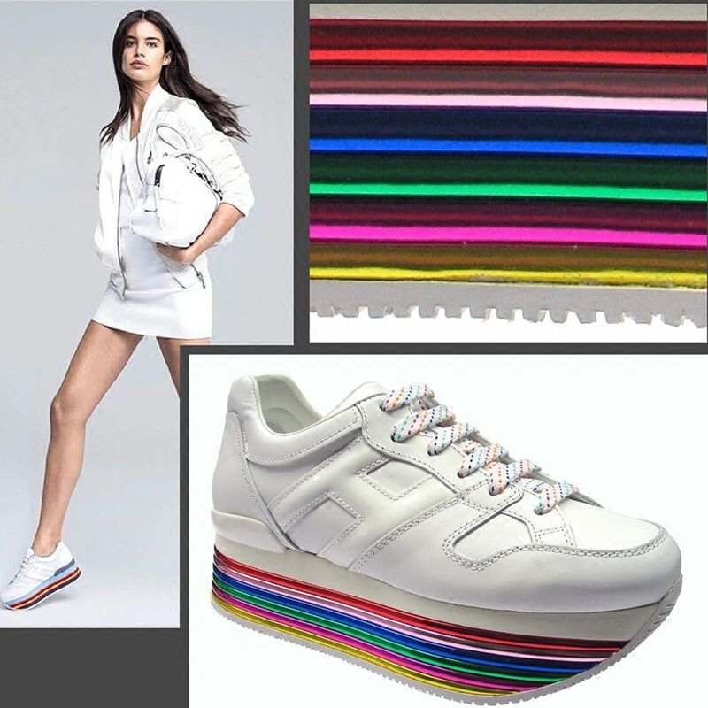 2019 Rainbow High Platform Oxford Women Shoes Lace Up Flats Height Increasing Womens Shoes Sneakers Tenis Feminino Shoes Woman in Women 39 s Vulcanize Shoes from Shoes