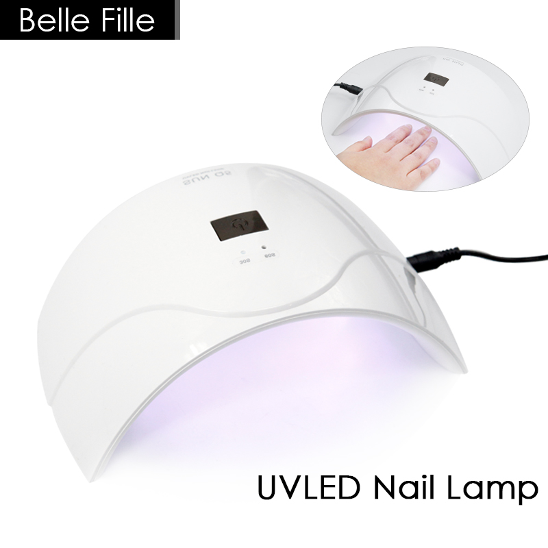 Belle Fille 24W UV Lamp Nail Dryer Gel Curing White Light LED Nail Art Dryer Fast Curing Polish Manicure Machine Salon Tool new pro 48w nail lamp manicure dryer fit uv led builder gel all nail polish nail art tools sun5 professional machine