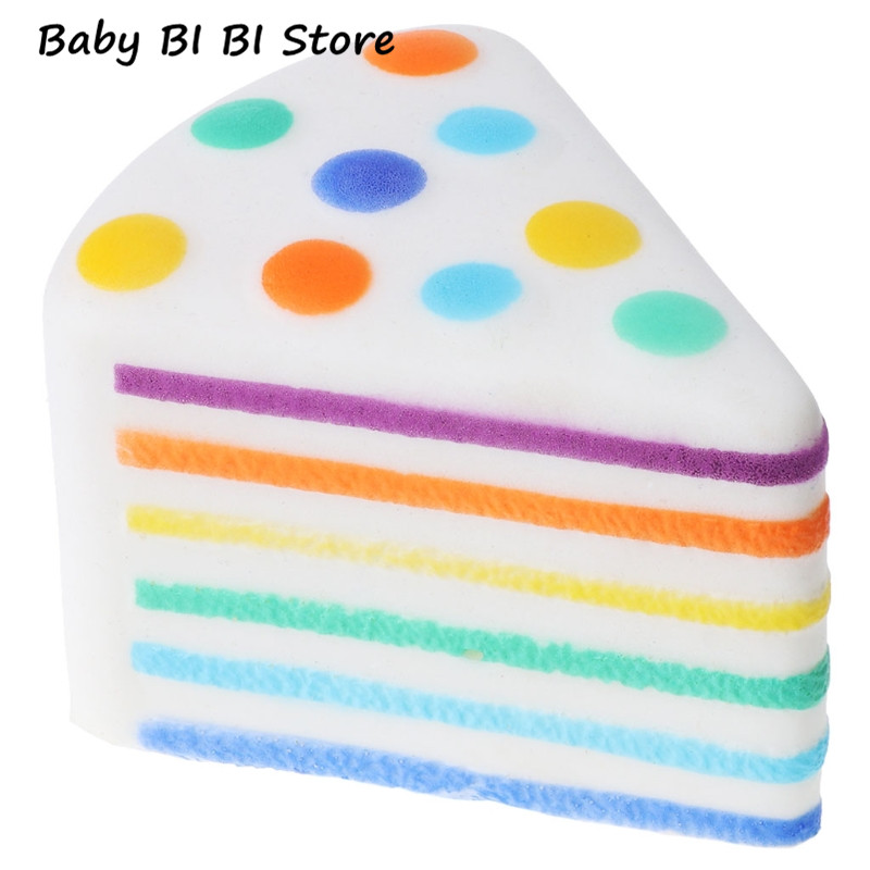 Triangle Rainbow Cake Foam Material Squishy Anti-stress PU Slow Rising Toys Gift For Kids