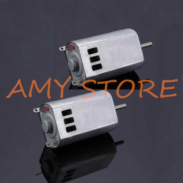 2pcs 180 Strong Magnetic Power Carbon Brush DC 3-9V 7.2V 23800RPM High Speed Motor Model Aircraft 20x15x32mm With Cooling Hole