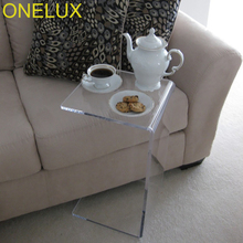 2PCS LOT Waterfall Acrylic Occasional Side C Table Lucite Small Tea Table