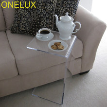 (2PCS/LOT) Waterfall Acrylic Occasional Side C Table,Lucite Small Tea Table(China)