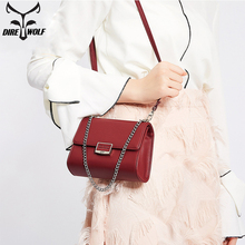 2018 Fashion Women Handbag Chains PU Leather Over-the-shoulder Bags Hasp Female Small Casual Tote Bag Girls Messenger Phone Bag