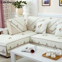 Sofa bìa tập trắng cắt trượt bìa ghế sofa hiện đại magical sofa covers góc khăn vải đôi khăn sofa sofa đệm