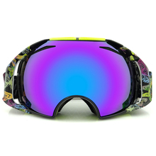 Professional ski goggles spectacles double lens anti-fog UV400 big ski glasses skiing snowboard men women snow goggles