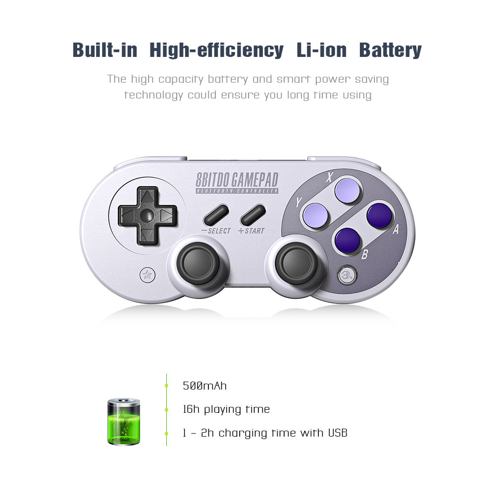 Official 8BitDo SN30 Pro Wireless Bluetooth Gamepad Controller with Joystick for Windows Android macOS Nintendo Switch Steam 16