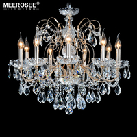 European Fashion Vintage Chandelier lamp 9 Arms Candle Lights Lighting Fixtures Iron Home Lighting E14 E12 Modern Chandeliers