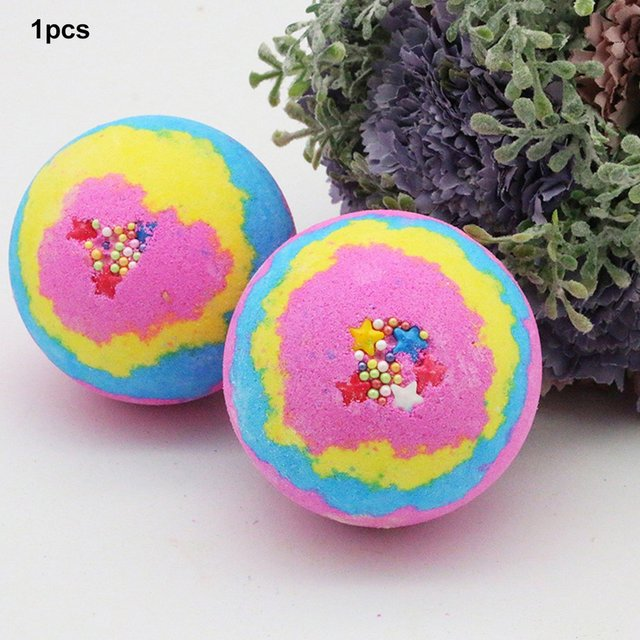 100G Multicolor Bath Ball Home Hotel Bathroom Spa Body Cleaner Bubble Fizzer Bath Bomb Handmade Birthday Gift 4
