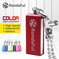 Rondaful rotatable metal pen drive 4 GB 8 GB pendrive 16 GB 32 GB 64 GB usb flash drive memory stick u disco usb 2.0 com corrente