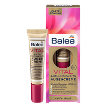 Germany Balea Vital Baobab 5in1 Anti Fatigue Aging Eye Cream Treatment for Reduce Dark Circle Puffiness Softens Swollen Eyelids