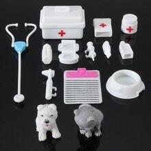 14 adet Mini Doktor Seti Oyuncak çocuklar için Ww3607010 Çocuklar için Pretend Doktor Hemşire Çocukluk Oyunları tıbbi ekipman Oyuncaklar Bebek Aksesuarları