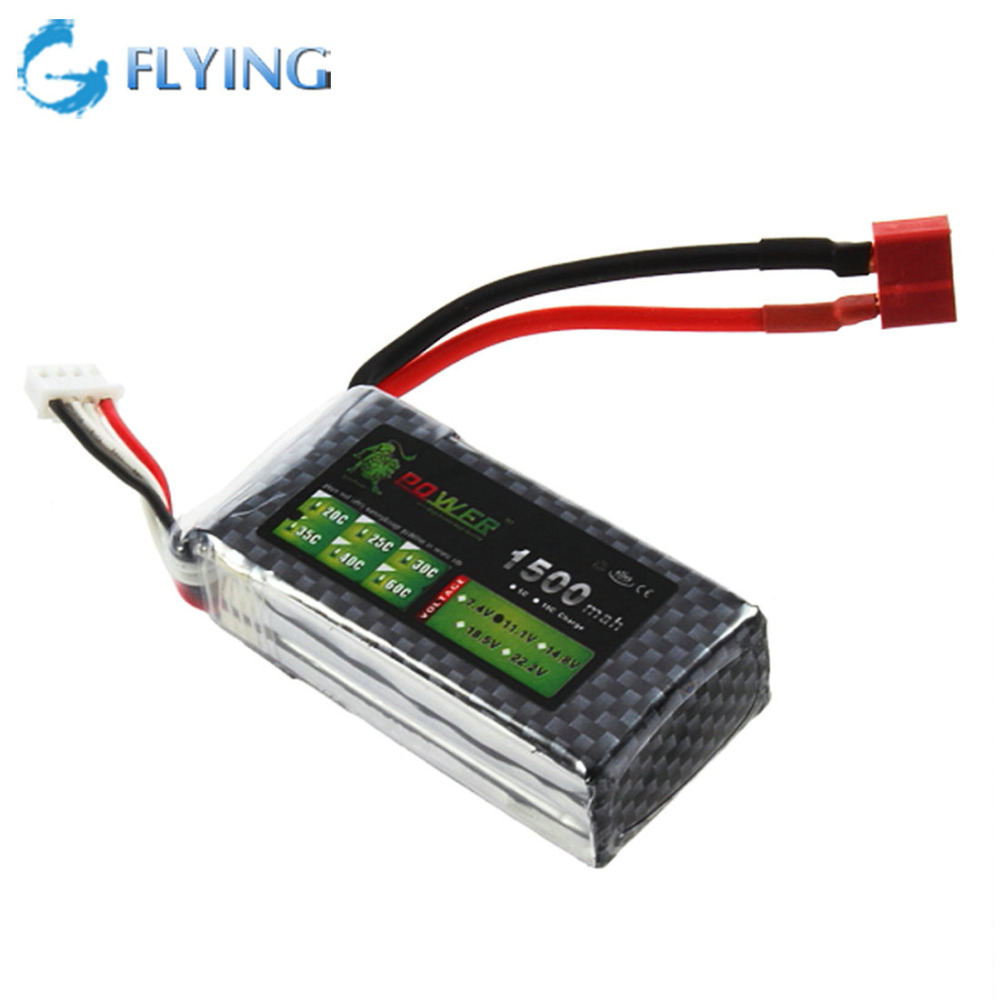 A Lithium ion 1500mAh 11 1V 3S 35C Lipo Battery Power for RC Helicopter 3D Airplane