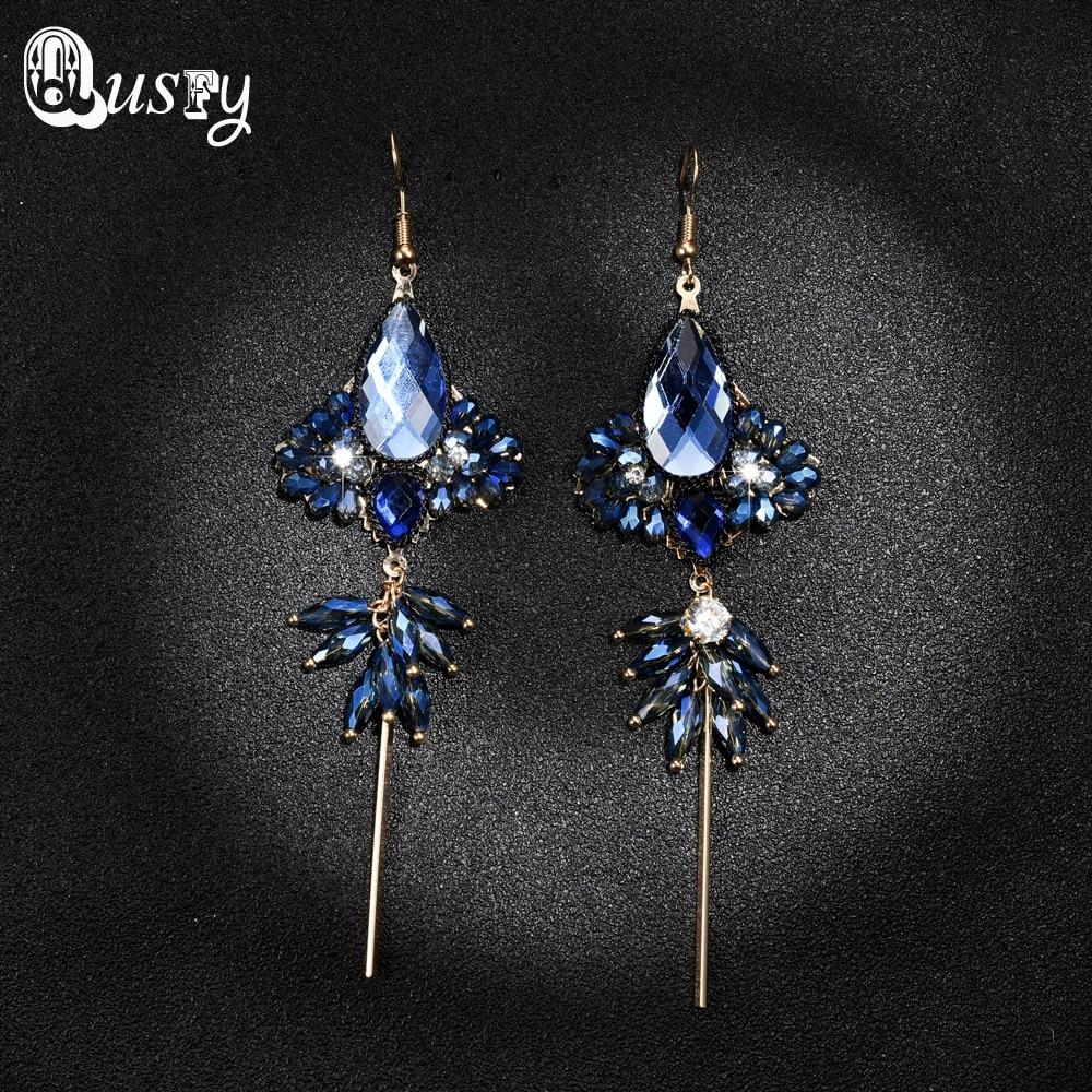 Red Black Glass Rhinestone Earring Women's Fashion Earrings New Arrival  Brand For Women Nc(china