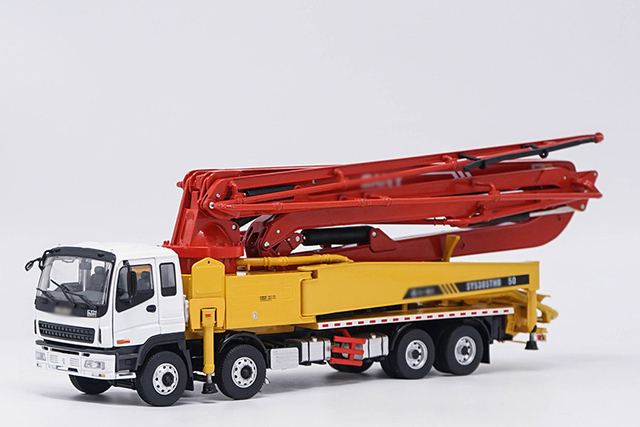 US $125 55 19% OFF|Boutique 1:38 SY 50 Concrete Pump Truck Alloy Cement  Pump Truck construction machinery Collection model-in Diecasts & Toy  Vehicles
