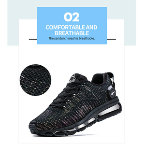 Image 5 - ONEMIX FASHION Men Reflective Uppers Casual Shoes Women Air running Shoes Lightweight Sneakers  Walking Trainers