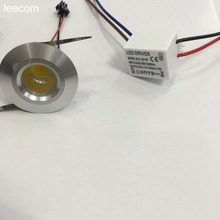 10pcs/lot diameter 40mm cob Led Cabinet white mini Spot light  3W Include Driver AC85-265V 40mm*h25mm Mini downlight