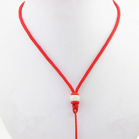 2016 New Brand DSF Jewelry Chinese Style Red Rope Cords With Nature Jade 3 Color Cords