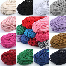 30Meter/lot 5mm Cotton Cord Eco-Friendly Twisted Rope High Tenacity Thread DIY Textile Craft Woven String Home Decoration Supply