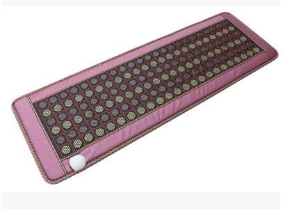 Натурального нефрита 5 рядов германия камень терапия три Диван Подушка Электрический нагревательный подушки здравоохранения физической т