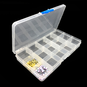 15 Compartments Transparent Empty Nail Art Tip Box Storage Rhinestone Decoration Bead Case Jewelry Manicure Material Container