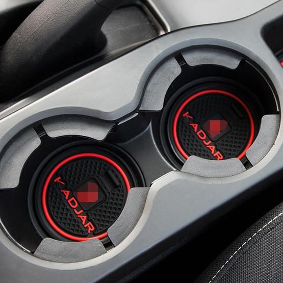 Luhuezu Rubber Non-Slip Interior Door Groove Mats For Renault Kadjar Accessories 2015-2017