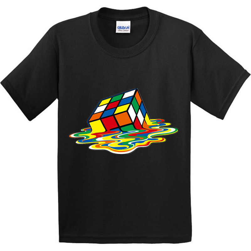 100% Cotton,Children Fashion The Big Bang Theory Funny T-Shirt Kids Cube Clothes Boys Girls Summer Casual Tops T shirt,GKT010 недорго, оригинальная цена