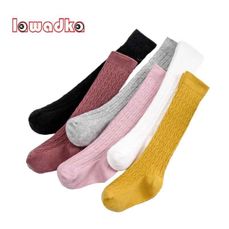 Lawadka 2018 Fashion Striped Knee Socks Baby Girl Cotton Knee Socks For Girls Autumn Winter Kids Socks High Child Gift