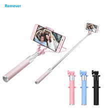 Portable Extendable Monopod for Iphone 6 6s 7 Mini selfie stick with phone holder for Phones IOS Android Samsung Huawei Xiaomi  original huawei honor selfie stick tripod portable bluetooth3 0 monopod for ios android huawei smart phone