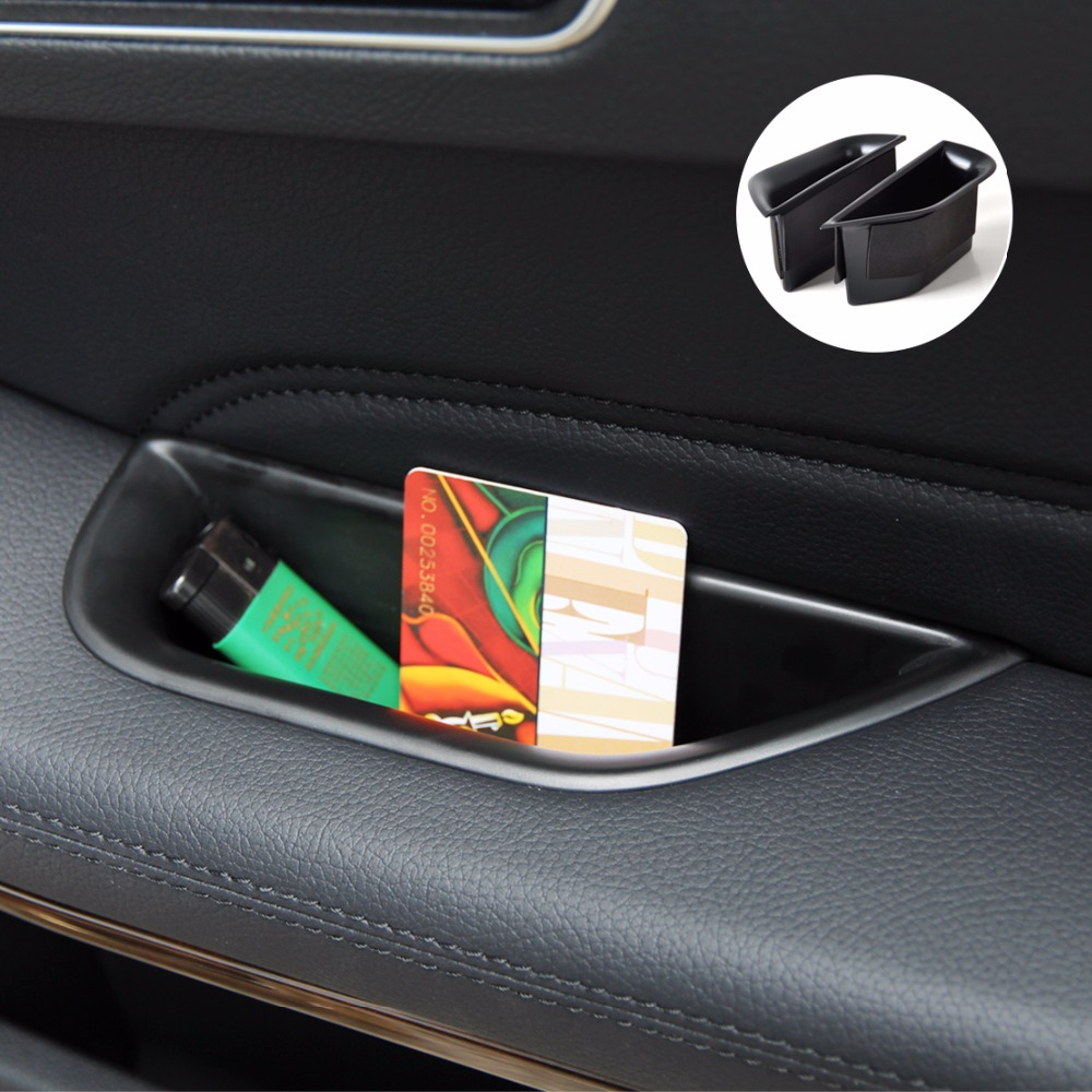 DWCX черный 2 шт. передняя дверь подлокотник коробка для хранения Контейнер держатель для Mercedes-Benz W212 E класс 2010 2011 2012 2013