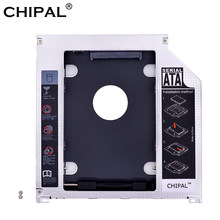 "CHIPAL Aluminum 2nd HDD Caddy 9.5mm SATA 3.0 SSD Case HDD Enclosure for Apple Macbook Pro Air 13"" 15"" 17"" SuperDrive Optibay(China)"