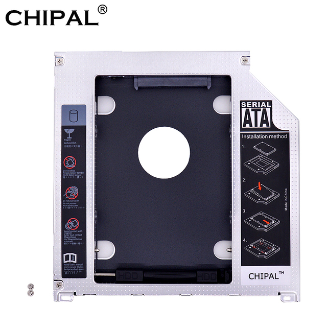 "CHIPAL de aluminio 2nd HDD Caddy 9,5mm SATA 3,0 GB SSD caso HDD carcasa para Apple Macbook Pro 13"" superDrive óptico de 15 ""17"""