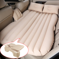 Car Styling Inflatable Bed Air Travel Bed Seat Cover Universal Back Seat Mattress Outdoor Soft Bedding Air Pump Auto Accessories