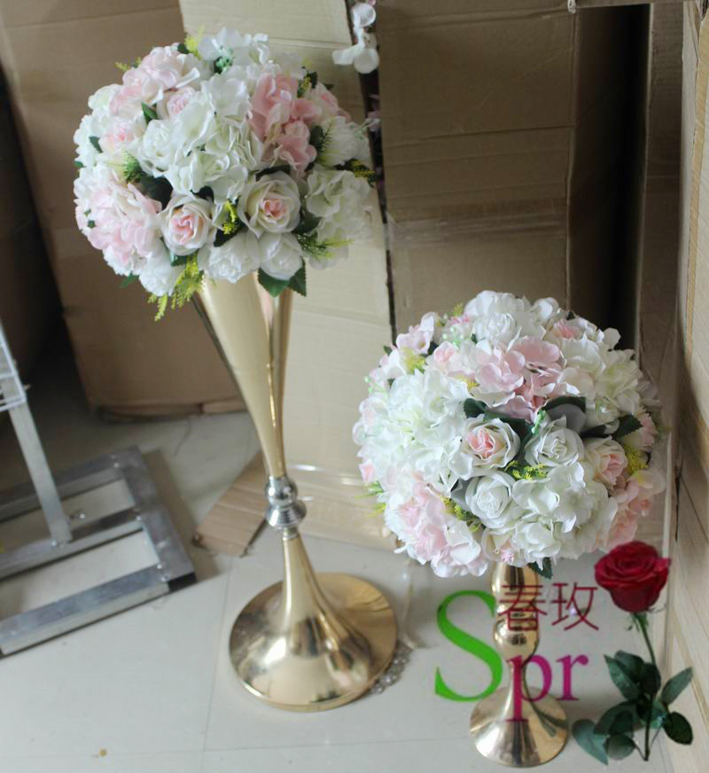 Spr New Spr Light Pink Artificial Flowers Wedding Table Centerpiece