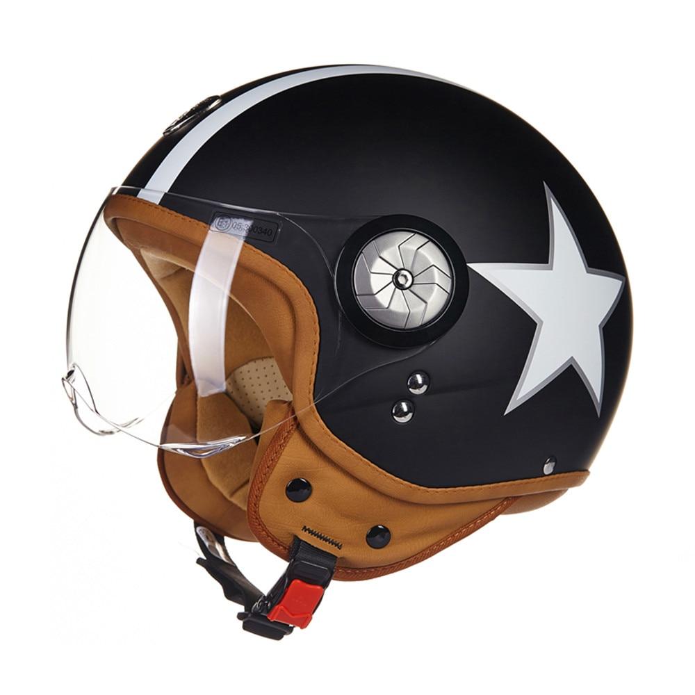 Brand New ECE Motorcycle Helmet Chopper 3/4 Open Face Vintage Helmet B110 Moto Casque Casco motocicleta Capacete Unisex helmets new laptop keyboard for dell xps 13 9343 9350 9550 backlit uk layout